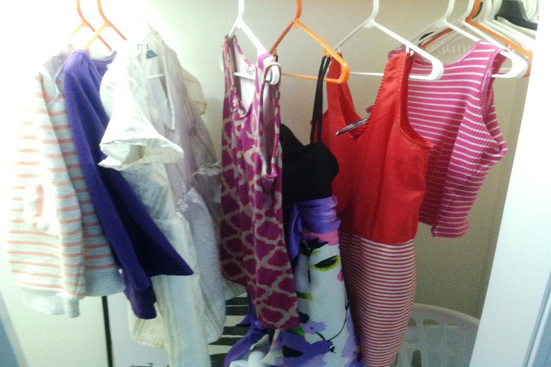 Closet - dresses, tops